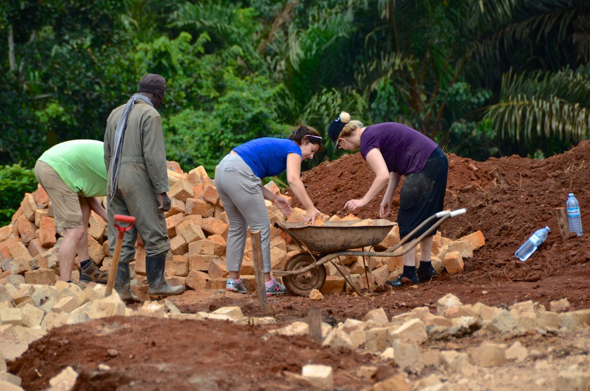Currently, the compound has four houses that will eventually hold eight, mirroring how Ugandan society lives. The shared space provides community. Viera and Hannes are also building a school and housing for teachers, a computer lab, and a medical clinic.